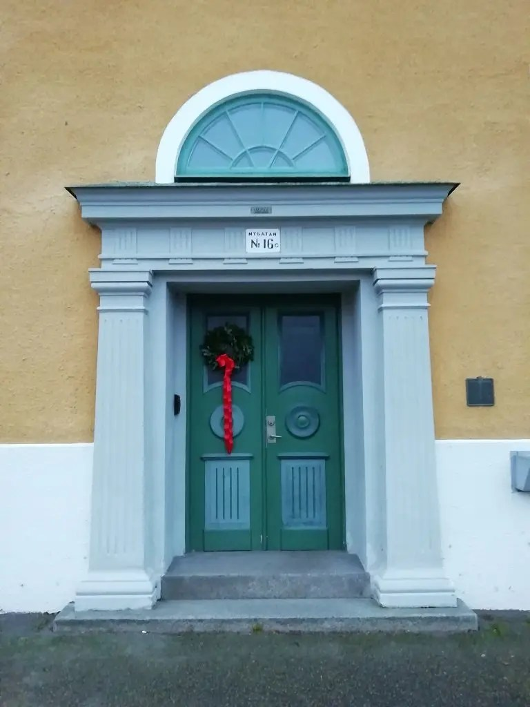 Bonita puerta para venir a vivir en Suecia