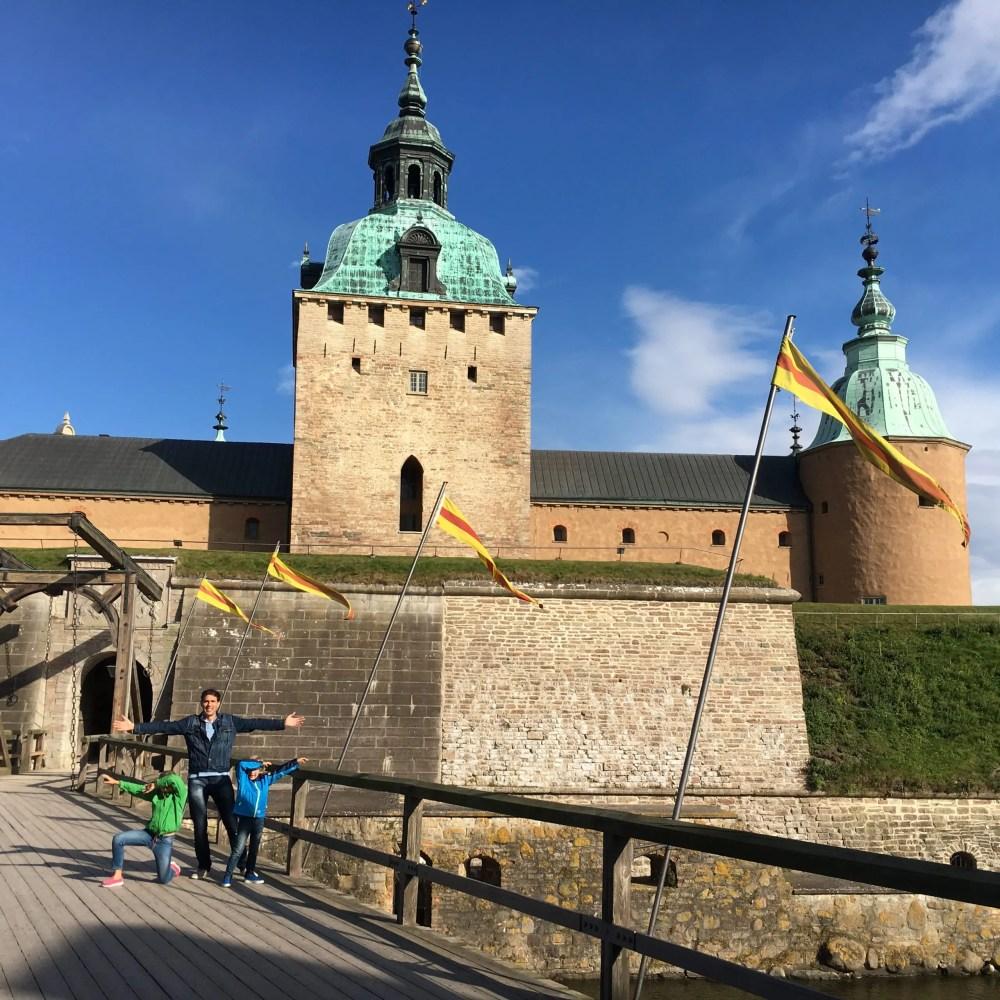 Svea y Pablo - Que hacer en Kalmar con los niños en este castillo con una gran historia