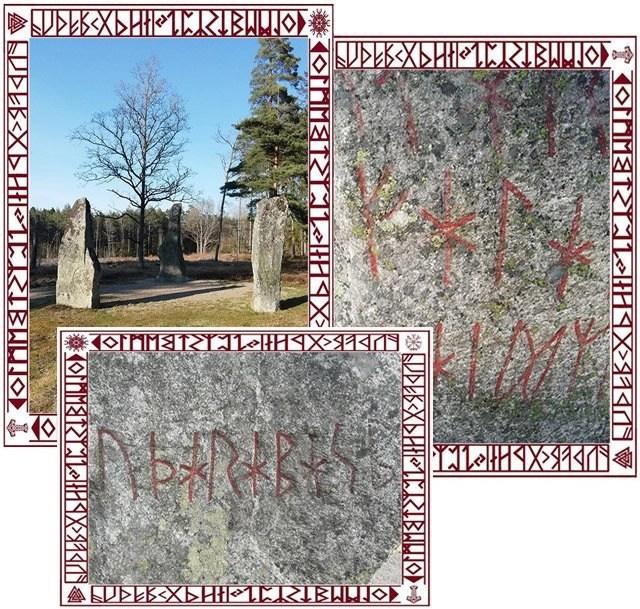 Svea y Pablo -Fornnordiska escrito en la piedra rúnica de Björke
