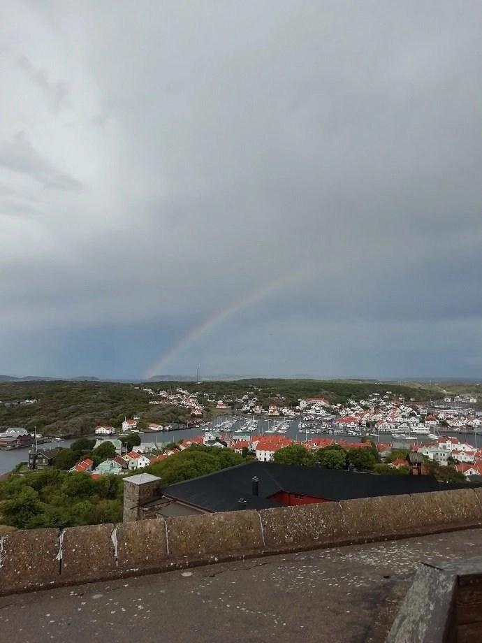 Svea y Pablo - Vistas de Marstrand desde la fortaleza de Carlsten