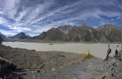 Fish eye view of Lake Tasman