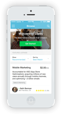 Clarity Business Consulting Advisory App Screenshot Example Home
