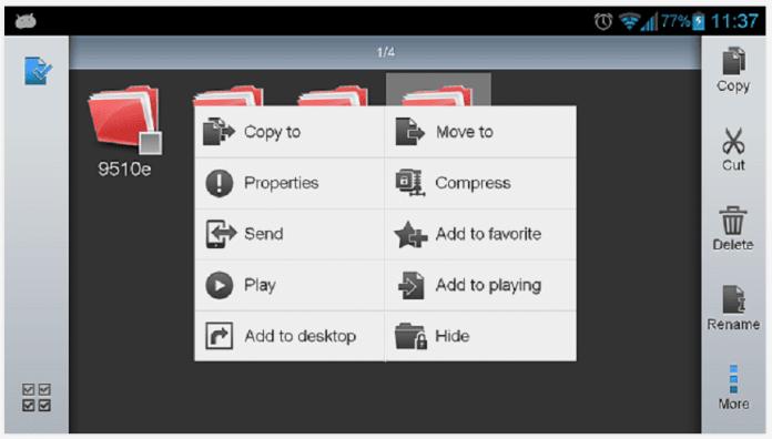 ES File Explorer Screenshot Example Android