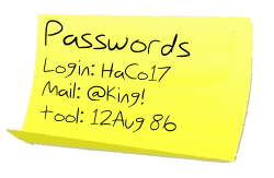 password-postit