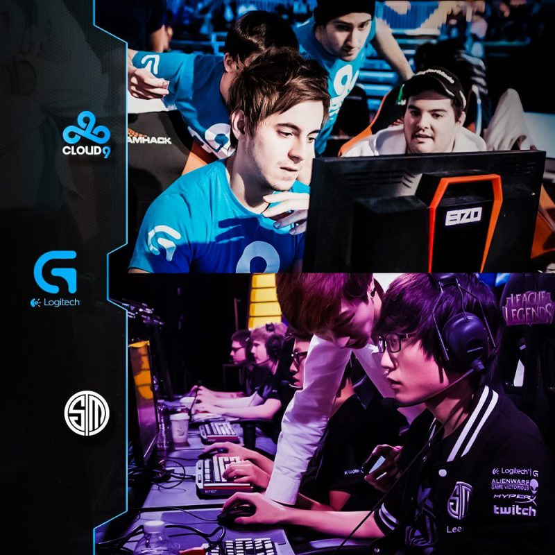 Logitech-G-Cloud9-C9-Team-SoloMid-TSM-Event-Players-eSports-Gaming-Tournament-Professional-Competitive