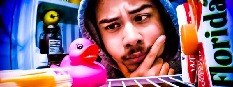 Surprised-Man-Fridge-Inside-Pink-Rubber-Duck-Mustache-Thinking-crop