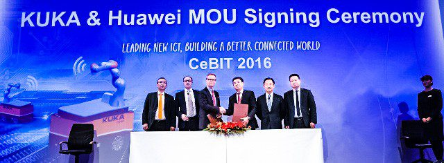 0315-Huawei+Sign+MOU kuka robotics event cebit Germany crop