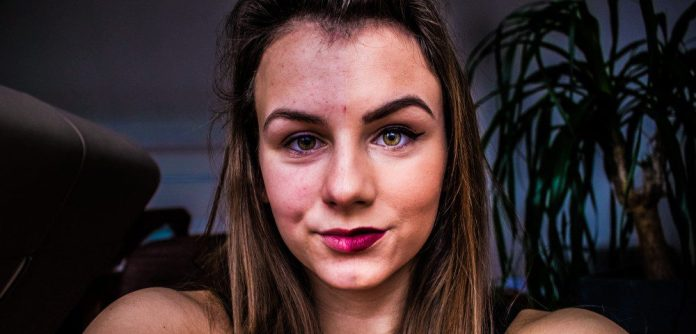 Woman Half Make Up Real Without Comparison crop