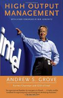 High Output Management Andrew S Grove CEO Chairman Intel Book