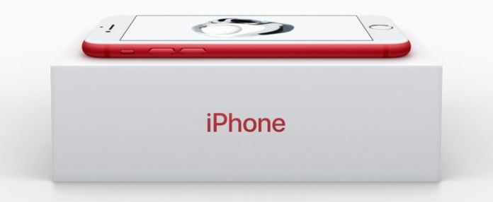 Apple News Red iPhone Pro Special Edition Color Aids Help Donated Charity Box Lying