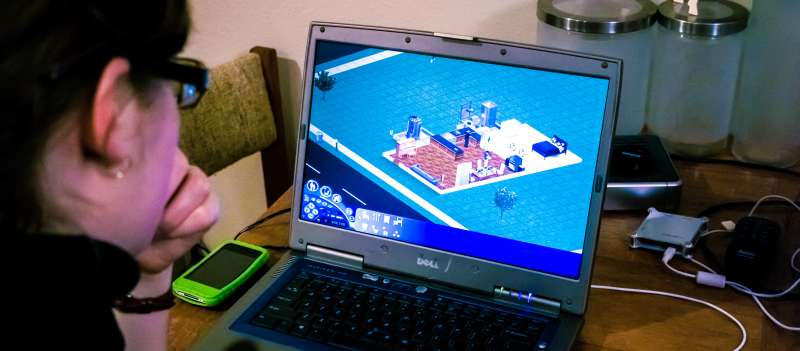Playing The Sims Old Video Game Life Simulation
