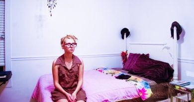 Pondering Girl Woman Sitting Bed Room Thinking Idling Silence Inside Home