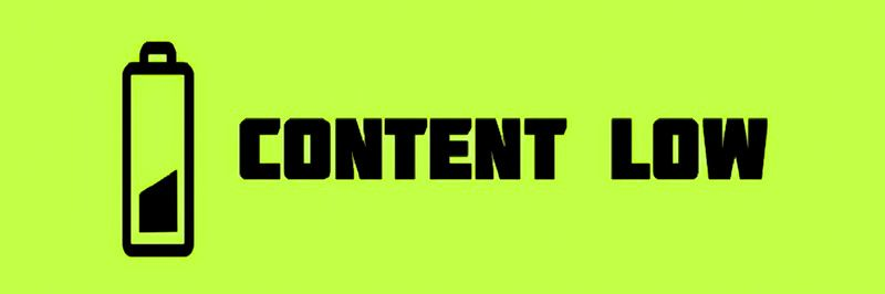 Content Low Battery Marketing Guide Article Symbol