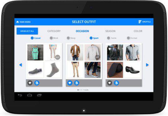ThreadRobe App on Tablet