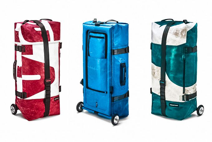 FREITAG ZIPPELIN style example recycled truck tarp inflatable travel bag