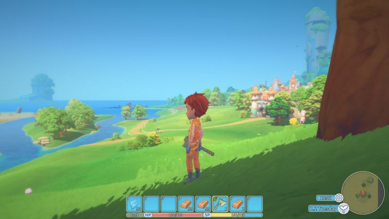 My Time At Portia Screenshot Green Countryside Happy Nature Sunny
