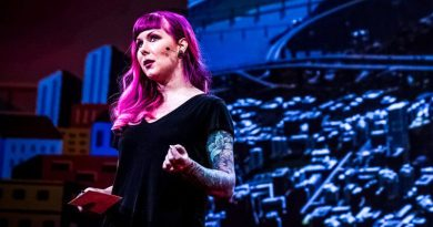 Karoliina Korppoo speaks at TED2017 The Future You Vancouver Canada Photo Bret Hartman TED Gaming City Building Design Smart Cities Construction Civil Engineer Game Design Dev