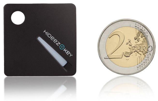 Hideez Key Size Comparison Euro Coin