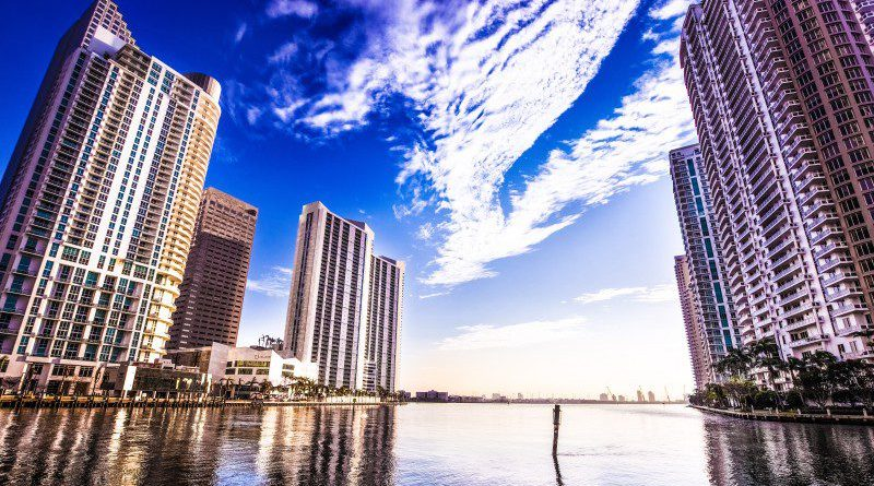 Florida as business location for enterprises and smb companies bay photo day sky cloud blue building water tech hub