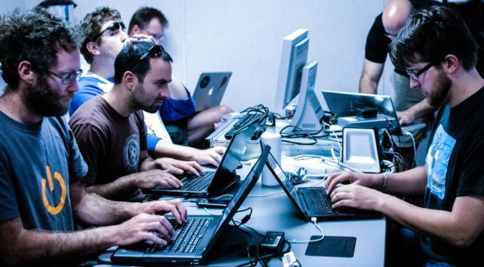 Hacking Security Infosec Cybersec Cyber Crime Developers Team Working on Laptops Together Tips Pointers Steps