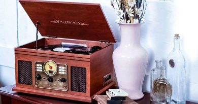Victrola VTA-600B Cool Old Deisgn Bluetooth Steampunk Cassette Vinyl CD Radio USB R ipper Device Feature Image Innovative Technologies Crop