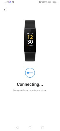 Realme Band connecting