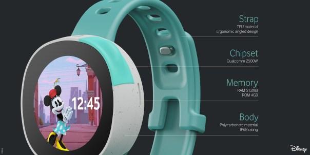 Disney and Vodafone Neo Smart watch kids specs