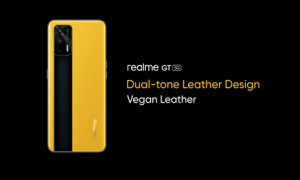 realme gt 5g leather design