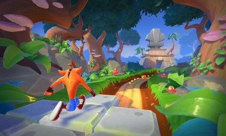 Crash Bandicoot On the Run Turtle Woods