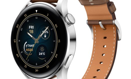 HUAWEI Watch 3 Stainless Steel Brown Leather Strap 1