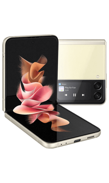 Samsung Galaxy Z Flip3 cream full product front 600