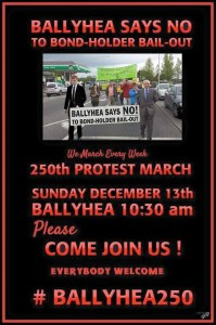 'Ballyhea says no' group hold final anti-bondholder protest in North Co Cork village