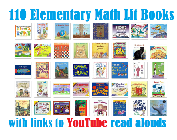 Math literature for elementary grades list with youtube links.png