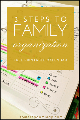 Family organization strategy in three steps with a free printable
