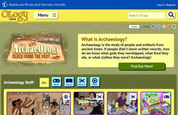 Ology Website from the American Museum of Natural History