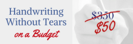 Handwriting Without Tears on a Budget