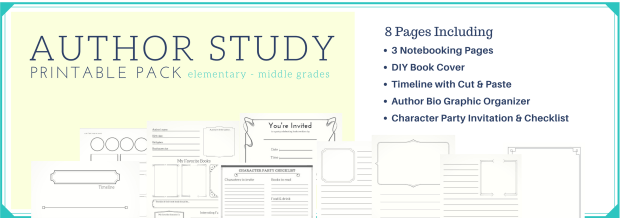 Author Study Printable Pack Image. Click to download.