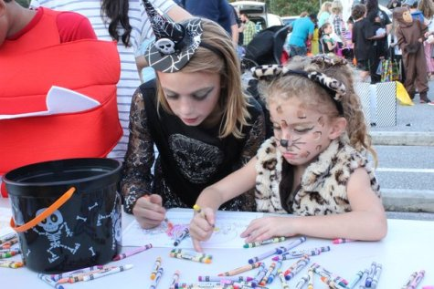 Like many children, Audrey found that it was hard to finish a whole coloring sheet by herself. With the help of her sister, she was able to enter in the color contest.