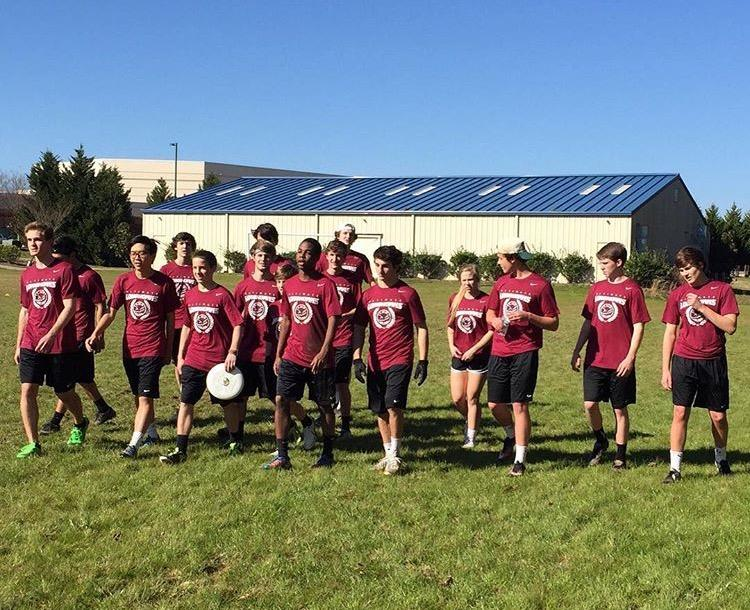The+Lambert+Ultimate+Frisbee+team+marches+toward+the+playing+field+before+one+of+their+tournaments+%28Photo+used+with+permission+from+Jared+Bennett%29+