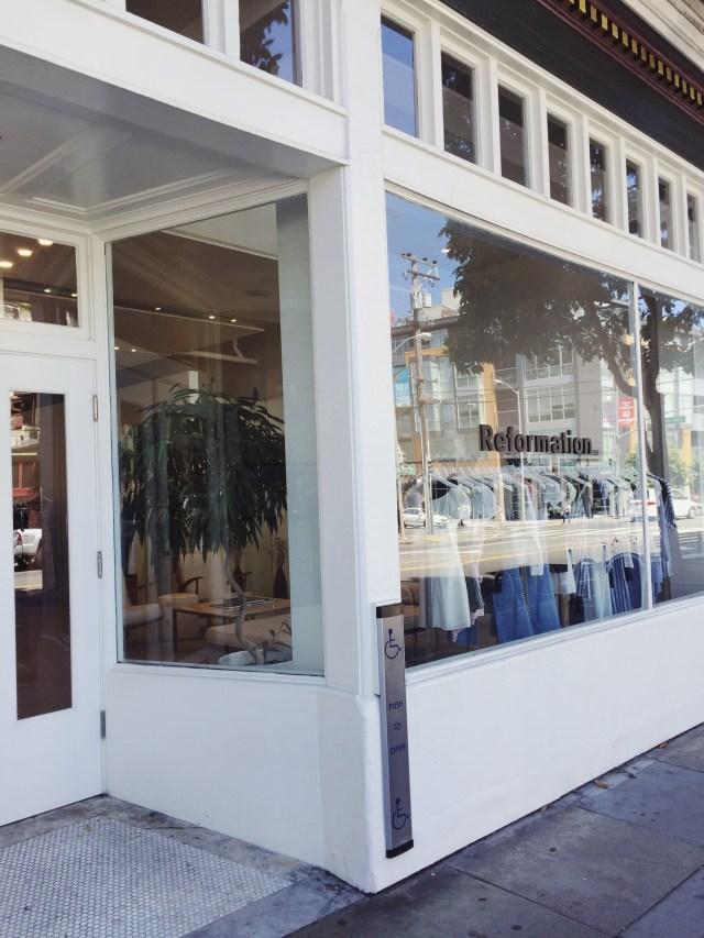 Eco Fashion Shopping: Reformation, San Francisco