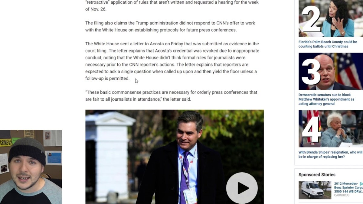 Trump Is Taking Acosta's Pass AGAIN, CNN Is Freaking out