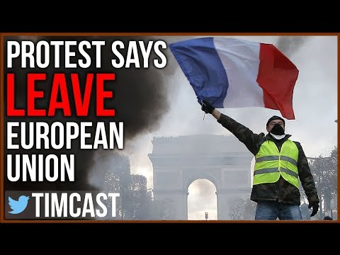 "French Protesters Say ""Leave EU"" And Demand Less Immigration"
