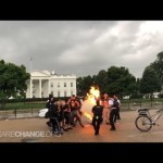 Fireballs, Clashes and Arrests Outside White House on July 4th Celebration! How American.
