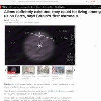 Aliens DEFINITELY Exist And May Be Here On Earth Says British Astronaut... WHat??