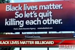 """Black lives matter. So let's quit killing each other."