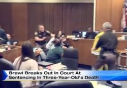 Defendant punched during sentencing in Detroit courtroom