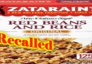 Zatarain's Red Beans and Rice Recalled