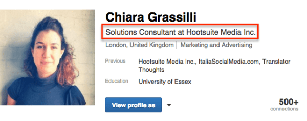 Set up your LinkedIn profile