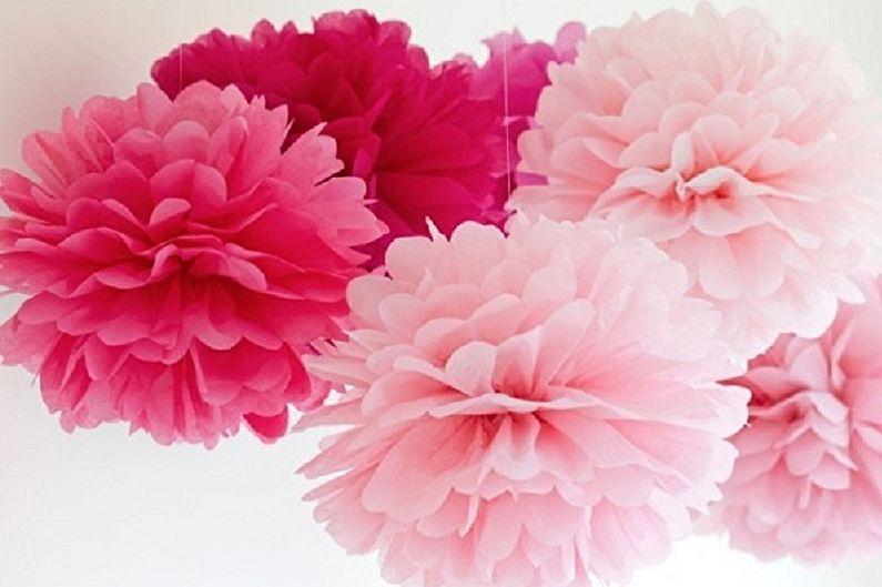 Цветы из салфеток своими руками - Пионы