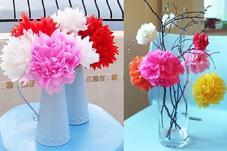 Λουλούδια από χαρτοπετσέτες το κάνουν μόνοι σας - Φωτογραφία